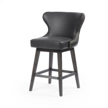 Counter Stool Size Distressed Black Cover Julie Swivel Bar + Counter Stool