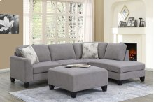 Moose Modern Sectional, Ottoman & Pushback Accent Chair, U4604