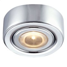 LED Puck Light w / mounting ring Chrome Finish