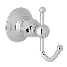 Polished Chrome Italian Bath Single Robe Hook