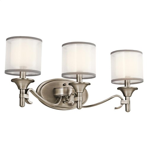 Lacey Collection Lacey 3 Light Bath Light - Antique Pewter