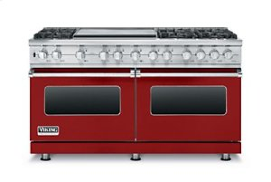 "60"" Custom Sealed Burner Dual Fuel Range, Propane Gas"