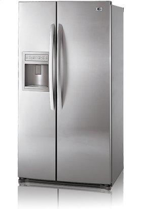 Side-By-Side Refrigerator with Ice and Water Dispenser (26.5 cu.ft.; Stainless Steel)