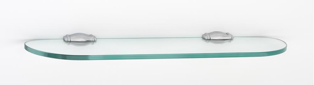 Charlie's Collection Glass Shelf A6750-18 - Polished Chrome