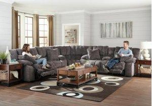 Lay Flat Reclining Sofa w/ Extended Ottomon