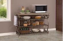 Paddock Wood and Metal Kitchen Cart