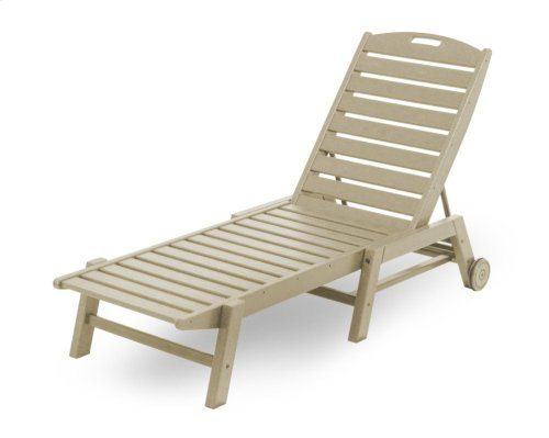 Sand Nautical Chaise with Wheels