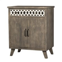 Artesa 2 Door Cabinet - Bone Drawer Fronts - Distressed Brown Gray