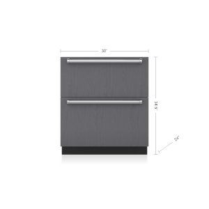 "Subzero30"" Designer Refrigerator/Freezer Drawers with Ice Maker - Panel Ready"