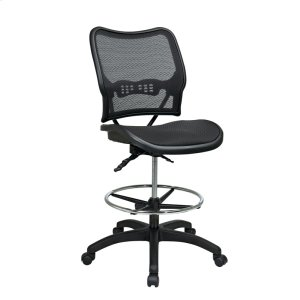 Office StarDeluxe Ergonomic Airgrid Seat and Back Drafting Chair