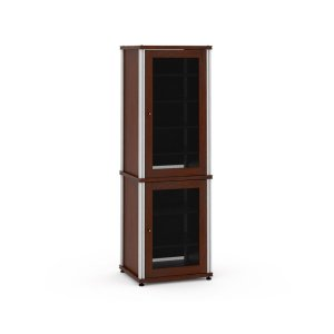 Salamander DesignsSynergy Solution 703, Quad-Width AV Cabinet, Walnut with Aluminum Posts