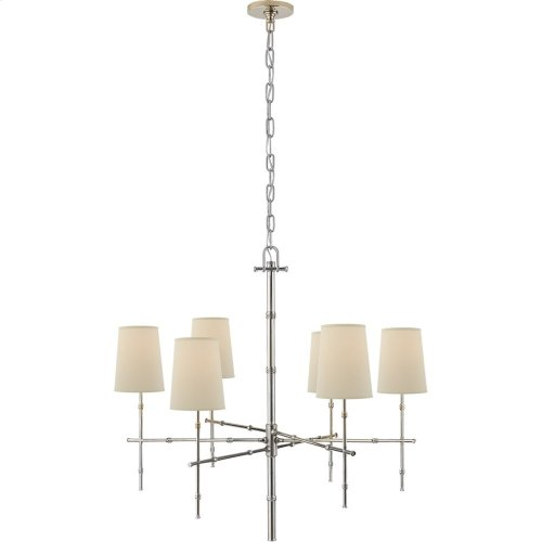 Visual Comfort S5161PN-PL Studio Grenol 6 Light 33 inch Polished Nickel Chandelier Ceiling Light