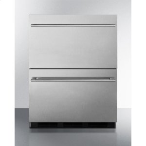 SummitCommercially Approved Two-drawer Auto Defrost All-refrigerator In Full Stainless Steel for Built-in or Freestanding Use