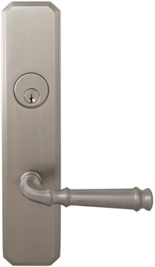 Exterior Traditional Mortise Entrance Lever Lockset with Plates in (US15 Satin Nickel Plated, Lacquered)