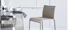 Metal and mesh fabric stool