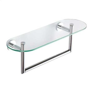 "Polished Chrome 18"" Shelf with Towel Bar"
