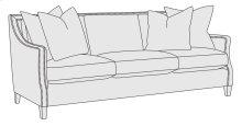 "Hopkins Sofa (82-1/2"") in Mocha (751)"
