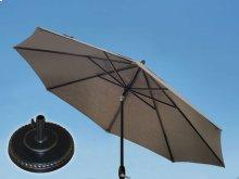 9.0' Umbrella with 9' & 11' Umbrella Extension Pole and Grand Terrace Umbrella Base