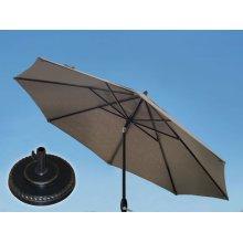 9.0' Umbrella, 9' & 11' Umbrella Extension Pole, Grand Terrace Umbrella Base