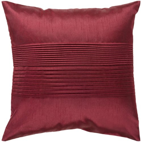 """Solid Pleated HH-026 18"""" x 18"""" Pillow Shell with Down Insert"""