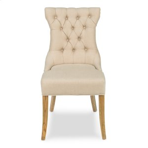 Sophie Side Chair, White Linen