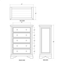 Huntley 5 Drawer Chest - WHD