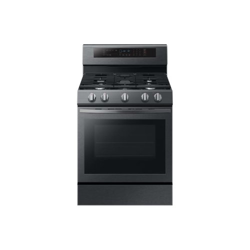 5.8 cu. ft. Convection Slide-in Gas Range in Black Stainless Steel