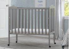 Portable Folding Crib with Mattress - Grey (026)