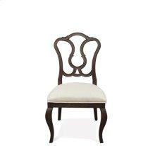 Verona Splat Back Upholstered Side Chair Dark Sienna finish