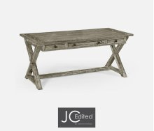 Rustic Grey Desk