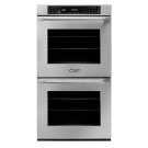 """27"""" Heritage Double Wall Oven, Silver Stainless Steel with Epicure Style Handle (End Chrome Caps) Product Image"""
