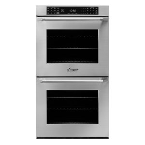 "Dacor 27"" Heritage Double Wall Oven, Silver Stainless Steel With Epicure Style Handle (End Chrome Caps)"