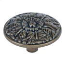 Hammered Medallion Knob 1 1/2 Inch - Burnished Bronze Product Image