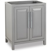 """30"""" vanity with grey finish and clean, leading-edge design."""