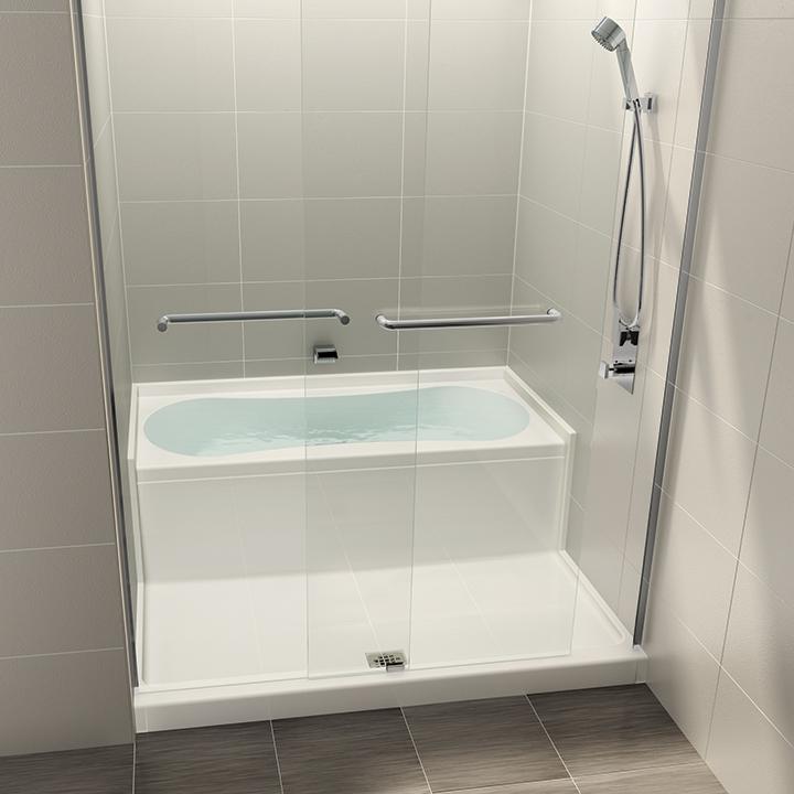 AQUAZONE   Shower And Bath Space Saving Wet Zone Hidden