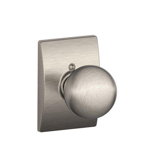 Orbit Knob with Century trim Non-turning Lock - Satin Nickel