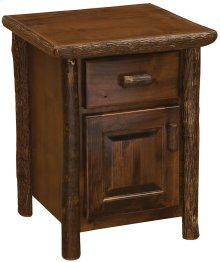 Enclosed Nightstand - Natural Hickory