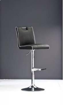 Modrest T-1214 Modern Black Eco-Leather Bar Stool