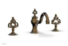 COURONNE Widespread Faucet Cross Handles 163-01 - Antique Brass