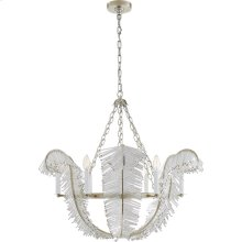 Visual Comfort NW5051BSL Niermann Weeks Calais 6 Light 34 inch Burnished Silver Leaf Chandelier Ceiling Light, Niermann Weeks