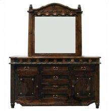 """Mirror : 45"""" x 4"""" x 45"""" Medio Lacquer Grande Dresser"""