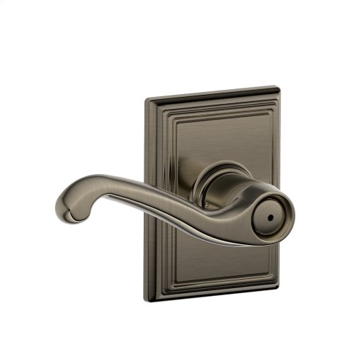 Flair Lever with Addison trim Bed & Bath Lock - Antique Pewter