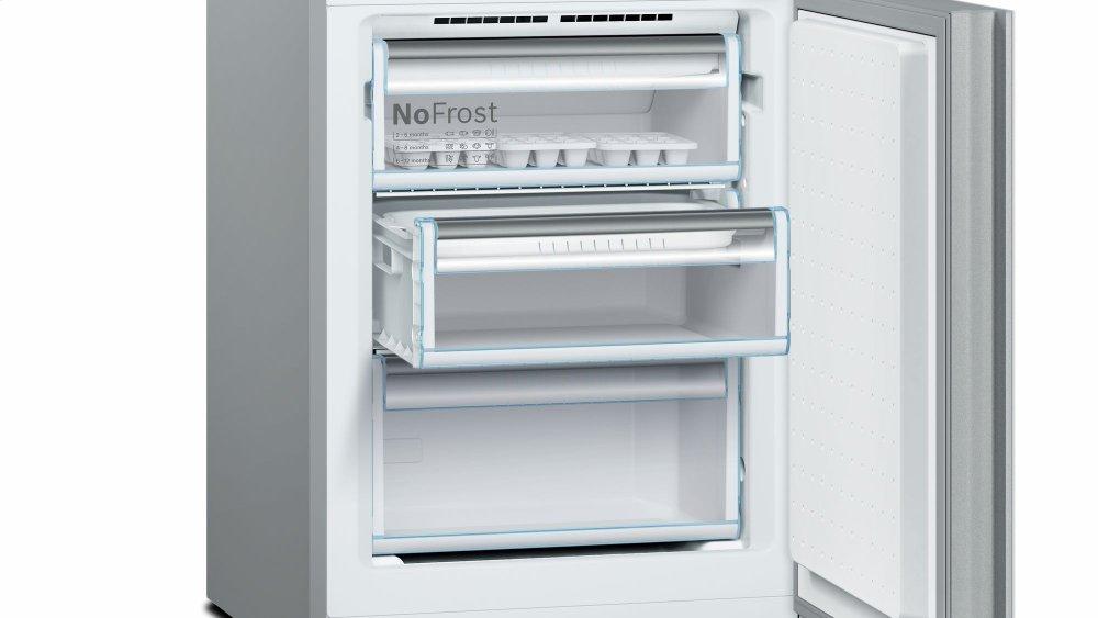 Bosch 800 Series, Free Standing Fridge Freezer White Glass Door