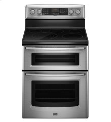 6.7 cu. ft. capacity electric double oven range with Even-Air true convection