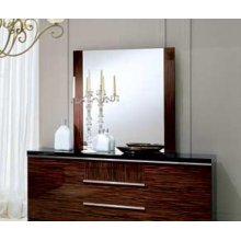 ALF Stromboli Italian Modern Ebony Mirror