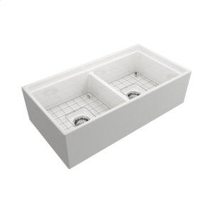 """Maxwel Farmer Sink - 36"""" - Bisque Product Image"""