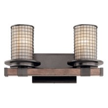 Ahrendale 2 Light Vanity Light Anvil Iron