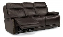 Russell Leather Power Reclining Sofa with Power Headrests