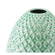 Rombo Short Vase Light Green