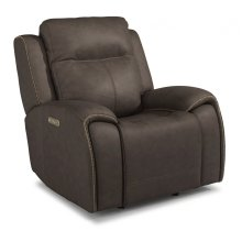 Solo Leather Power Gliding Recliner with Power Headrests
